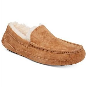 UGG MEN ASCOT CHESTNUT BROWN SLIPPERS MOCCASINS